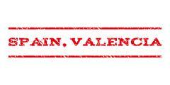 Spain Valencia Watermark Stamp Stock Illustration