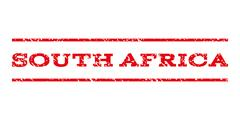 South Africa Watermark Stamp Stock Illustration