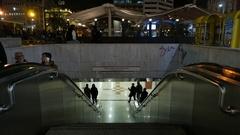 4K Omonia square Metro station subway Athens Greece Europe Stock Footage