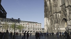 Cologne Cathedral - Domplatte in Köln Stock Footage