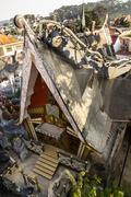 Bizarre construction of the Crazy house in Dalat, Vietnam Stock Photos