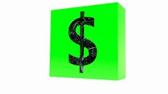 Gear box with dollar symbol Stock Footage