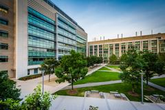 Modern buildings at the Massachusetts Institute of Technology, in Cambridge.. Stock Photos
