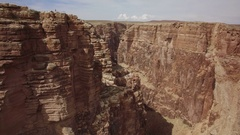 Grand Canyon Aerial Shot of Gorge and Rock Formation in Navojo Nation - Forward Stock Footage