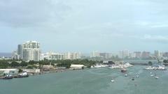 San Juan bay, cityscape - Puerto Rico Stock Footage