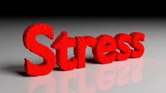 Dissolve animation of 3D word stress in red Stock Footage
