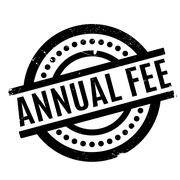 Annual Fee rubber stamp Stock Illustration