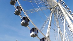 Observation ferris wheel (piece) against the sky. Stock Footage
