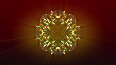 Crystals in Kaleidoscope -   Abstract Video Footage Stock Footage