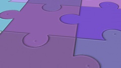 Surface of the Puzzle -  Abstract  Video Footage Stock Footage