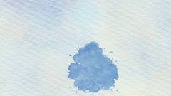 Blue Watercolor Daub  Vignette -   Flat Video Footage Stock Footage