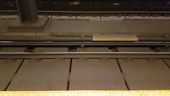 Toronto transit commission subway station train and tracks Stock Footage