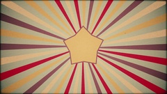 Old Film Background With Star and Rays -   Grunge Flat Video Footage Stock Footage