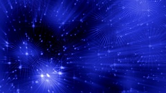 Festive blue abstract background with rays and dots of light, circular motion Stock Footage