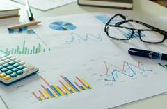 Business finance, accounting Stock Photos