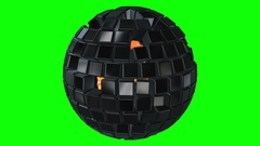 Cubes block. Assembling Big Data concept. Stock Footage