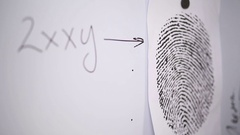 Scientists are studying a fingerprint Stock Footage