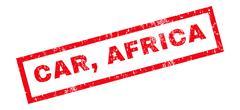 Car Africa Rubber Stamp Stock Illustration