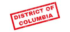 District Of Columbia Rubber Stamp Stock Illustration