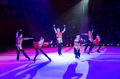 Performance of artistic troupe of Moscow Circus on Ice Stock Photos