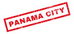 Panama City Rubber Stamp Stock Illustration