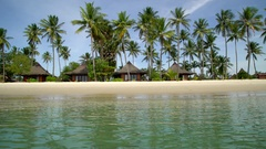 Paradise beach on a Thai island. Stock Footage