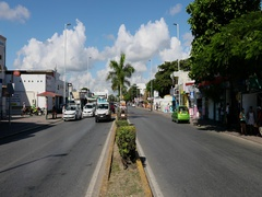 Mexico Play del Carmen busy road traffic DCI 4K Stock Footage