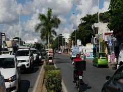 Mexico Playa del Carmen traffic city center DCI 4K Stock Footage