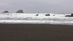 California Coast Rainy Day Highway 101 Stock Footage