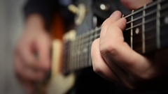 Playing Guitar Solo Stock Footage
