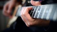 Guitarist Playing Stock Footage