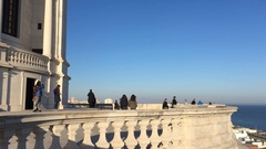 Touristic Visit To National Pantheon of Lisbon Stock Footage