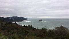 California Coast Rainy Day Highway 101 Stock Footage