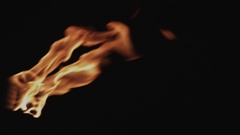 Fire-breather at Night Stock Footage