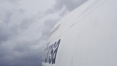 Jumbo - Boeing 747 flying - on board camera perspective Stock Footage