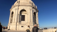Couple Visits National Pantheon of Lisbon Stock Footage