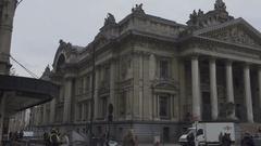 BRUSSELS, BELGIUM – Brussels Bourse, Stock Market Stock Footage