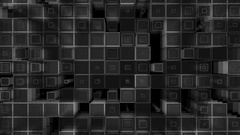 Square wall 3D looping element Stock Footage
