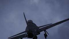 Fighter jet in time lapse Stock Footage