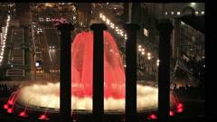 Magic Fountain in Barcelona Stock Footage
