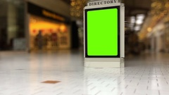 Shopping Mall Directory with Extreme Depth of Field Stock Footage