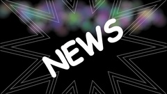 News animated title on grunge multicolored sprayed background. Intro for new Stock Footage