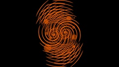 Orange abstract gritty rotating element builging ball. Clue in grunge style Stock Footage
