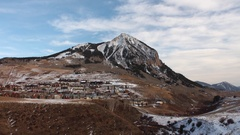 Crested Butte Mountain Stock Footage