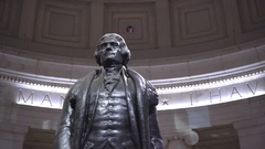 Thomas Jefferson memorial, slider shot - Washington DC Stock Footage