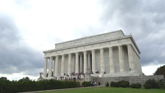 Abraham Lincoln Memorial - Washington DC Stock Footage