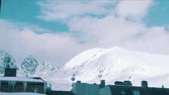Snow Capped Mountain Timelapse Andorra Stock Footage