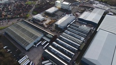 Aerial view of an industrial area in West Bromwich. Stock Footage