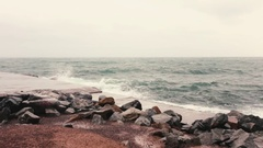 Big storm, sky and waves Stock Footage