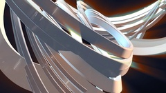 Abstract Swirl Morph Animation Stock Footage